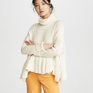 FREE PEOPLE Oversized Coconut Ivory Sweater L